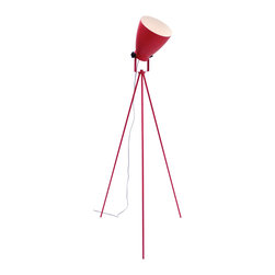 "Lumisource - Grammy Reader Floor Lamp, Pink - 24"" Diam. x 52 - 57.5"" H"