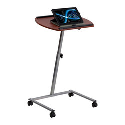 Flash Furniture - Flash Furniture Angle and Height Adjustable Mobile Laptop Computer Table - This mobile computer table can be used in the Home, Office or School. Use in the home in your favorite recliner or over the bed. Table can be used for small presentations. The height adjustable frame allow user to adjust the table to their height preference. [JB-4-GG]