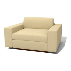 True Modern - Jackson Chair - Tumbleweed - This cozy side chair will quickly turn into the best seat in the house. With two, large armrests and down-filled cushions everyone in your family will be racing to get in place for movie night. It's the perfect addition to your modern living room.