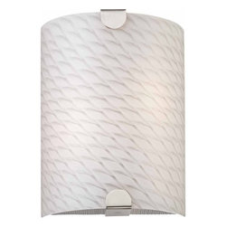 "Volume Lighting - Volume Lighting V7591 Esprit 12"" Height Wall Sconce - Esprit 12"" Height Wall Sconce with 2 Lights and White Frit GlassAdorn your home with this superb 2 light wall sconce featuring flawless white frit glass.Features:"