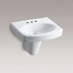 KOHLER - KOHLER Pinoir(R) wall-mount bathroom sink with 4