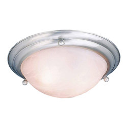 VOLUME LIGHTING - Lunar Bay Flush Mount Ceiling Fixture, 15-1/2 In., Brushed Nickel - Flush Mount Brushed Nickel FL-15 2LT uses two PLC13W G24Q-1 base Compact Fluorescent lamps-not included - Manufacturer: Volume Lighting - LIGHTING - RESIDENTIAL LIGHTING FIXTURES - INDOOR WALL LIGHTING - WALL SCONCES.