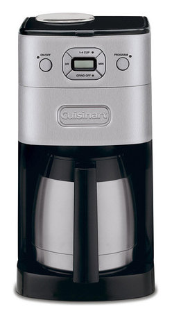 Cuisinart - Cuisinart DGB-650BCFR Grind-and-Brew Thermal 10-Cup Automatic Coffeemaker (Refur - Brew your freshest cup of coffee yet with this sleek, programmable 10-cup automatic coffee maker from Cuisinart. To maximize taste and freshness, the coffee maker automatically grinds your favorite whole beans seconds before brewing.