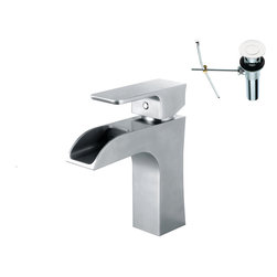YOSEMITE HOME DECOR - Single Handle Lavatory Faucet - This series features a stunning single handle lavatory faucet in striking polished chrome. The unit is AB 1953 compliant and meets NSF low lead standards. It is easy to clean and requires minimal maintenance to sustain its finish and stylish look. It comes with a supply line, deck plate, and is a single-hole installation. This vessel faucets modern and sophisticated design would complement any bathroom vanity and decor. Metal Pop-up drain included.