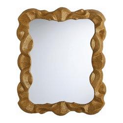 Arteriors - Arteriors DK9404 Baroque Antiqued Gold Leaf Plain Mirror - Arteriors DK9404 Baroque Antiqued Gold Leaf Plain Mirror