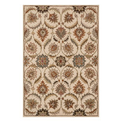 "Loloi Rugs - Loloi Rugs Ashford Collection - Ivory / Multi, 7'-6"" x 9'-6"" - A classic beauty re-imagined for today, hand-tufted Ashford harnesses the timeless elegance of historically rich floral rug patterns, but updates them with an incredibly calming palette. The loop and pile texture adds depth and visual interest to these rugs, which are handmade in India of 100% wool."