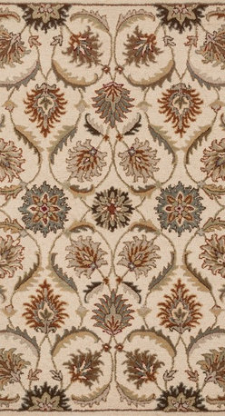 """Loloi Rugs - Loloi Rugs Ashford Collection - Ivory / Multi, 7'-6"""" x 9'-6"""" - A classic beauty re-imagined for today, hand-tufted Ashford harnesses the timeless elegance of historically rich floral rug patterns, but updates them with an incredibly calming palette. The loop and pile texture adds depth and visual interest to these rugs, which are handmade in India of 100% wool."""