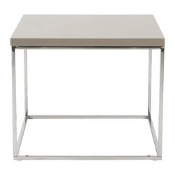 Euro Style - Euro Style Teresa Side Table 09802TPE - There's plain and there's perfect. This collection of 4 Teresa table designs are not only perfectly designed for strength and timeless style, they work beautifully together. Go for the group.