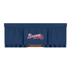Sports Coverage - MLB Atlanta Braves Valance MVP Baseball Window Treatment - FEATURES:
