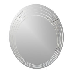 Decor Wonderland Mirrors - Decor Wonderland Bryn Modern Bathroom Mirror - Renew and revitalize your bathroom with this large round Bryn frameless bathroom mirror. This large mirror will brighten up your bathroom, entryway or living room exuding feng shui in your home. Great large round wall mirror. The invisible mounting hardware is designed to keep the top and bottom of the mirror flush against the wall.