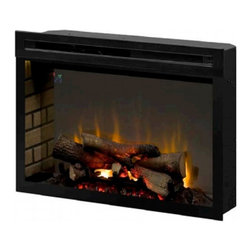 """Dimplex - Dimplex PF2325HL 25"""" Multi-Fire XD Electric Firebox with Logs - The Multi-Fire XD electric firebox offers a stunning new way to enjoy your electric fireplace. It offers a full view design for an unencumbered view of Dimplex's Real logs. The logs are cast from carefully selected firewood, charred and positioned for the perfect illusion of authentic burning firewood."""