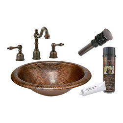 """Premier Copper Products - Premier Copper Products BSP2_LO18RDB 18"""" Self Rimming Copper Sink Package - Premier Copper Products BSP2_LO18RDB 18"""" Self Rimming Copper Sink Package"""
