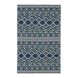 """Kaleen - Kaleen Nomad Collection Nom08-17 2'X3' Blue - Traveling the world or buying your first new home, we all love the excitement of a new adventure in our life. The """"Nomad"""" collection comes with a trendy sense of fashion, combined with sophistication and style. Geo prints, worldly designs, and classic motifs bring out the Nomad in all of us! 100% Wool Flatweave, Handmade in India"""