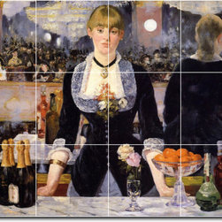 Picture-Tiles, LLC - A Bar At The Folies Bergere Tile Mural By Edouard Manet - * MURAL SIZE: 36x48 inch tile mural using (12) 12x12 ceramic tiles-satin finish.