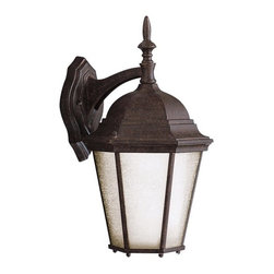 BUILDER - KICHLER 9655TZ Madison Transitional Outdoor Wall Sconce - With its timeless colonial profile, the Madison is the perfect line of outdoor fixtures for those looking to embellish classic sophistication. Because it is made from cast aluminum and comes in an extensive amount of different finishes, this Madison 1-light wall lantern can go with any home decor while being able to withstand the elements. It features a Tannery Bronze finish with clear beveled glass panels. U.L listed for wet locations.