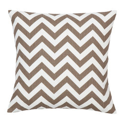 Look Here Jane, LLC - Chevron Italian Brown Pillow Cover - PILLOW COVER