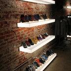 Plexiglass shelves - Custom made illuminated plexiglass wall shelves