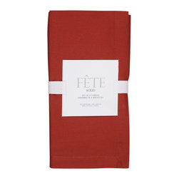 KAF Home - Red Napkin, Set of 4 - Our solid-colored napkins are versatile, soft and essential for any kitchen, modern or classic. Available in a variety of colors, these napkins are perfect for casual or formal occasions, indoor or outdoor.