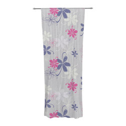"""Kess InHouse - Emma Frances """"Lively Blossoms"""" Decorative Sheer Curtain - Let the light in with these sheer artistic curtains. Showcase your style with thousands of pieces of art to choose from. Spruce up your living room, bedroom, dining room, or even use as a room divider. These polyester sheer curtains are 30"""" x 84"""" and sold individually for mixing & matching of styles. Brighten your indoor decor with these transparent accent curtains."""