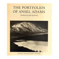 Consigned, The Portfolios Of Ansel Adams: New Designed, Laser-Scanned Separation - The Portfolios Of Ansel Adams: New Designed, Laser-Scanned Separations, New Printing by John Szarkowski. Boston: New York Graphic Society , 1981. First Edition. 200 pages. Oversize. Softcover, Wraps. B&W illustrations throughout.Age appropriate wear to pages and binding.