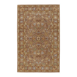 """Surya - Surya Clifton CLF-1002 (Mocha) 2'6"""" x 8' Rug - Traditional styles with a more transitional look and feel describe the Clifton Collection. The patterns have the intricacies of traditional rugs but larger in scale. The updated color palette refreshes the look with color combinations including oranges, blues, and grays. This collection can bring together an eclectic room transitioning the old with the new."""