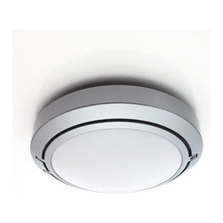 """Luceplan - Metropoli D20/38 Outdoor Light - Features: -Outdoor ceiling/wall light. -Metropoli Collection. -Available in painted aluminum. -Polycarbonate diffuser. -ADA compliant when mounted on wall. -UL listed. -Suitable for wet locations. Specifications: -ADA compliant when mounted on wall. -UL listed. -Suitable for wet locations. -Kit includes component D20/38.4 which uses 2 x 26W G24d-3 base compact fluorescent bulbs (bulbs not included). -Replacement bulb available - please call to order. -Overall Dimensions: 6.7"""" H x 6.7"""" W x 3.2"""" D."""