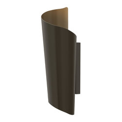 Hinkley Lighting - Hinkley Lighting 2354BZ Surf 2 Light Outdoor Wall Lights in Bronze - Surf's chic design reflects the natural curl of a breaking wave. Constructed of solid stainless steel as well as solid aluminum, this LED lantern emits light both up and down.