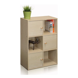 Furinno - Furinno 11189 Pasir 3-Tier Shelf, Steam Beech - This series is made of 12mm E1 Grade Particleboard made from recycled materials of rubber trees, eco-friendly. All the materials are manufactured in Malaysia and comply with the green rules of production. There is no foul smell, durable and the material is the most stable amongst the particleboards. A simple attitude towards lifestyle is reflected directly on the design of Furinno Furniture, creating a trend of simply nature. All the products are produced and assembled 100-percent in Malaysia with 95% - 100% recycled materials.