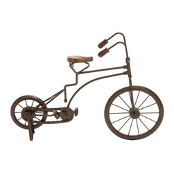 "Benzara - Metal Cycle 17""W, 12""H Unique Home Accents - Size: 17 Wide x 5 Depth x 12 High (Inches); Material: Premium grade metal alloy; Color: Brown; Fantastic kids room decor; Can be used anywhere; Perfect birthday gift for kids; Depicts ultimate standards"