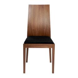 Eurostyle - Deanna Side Chair (Set Of 2)-Walnut - Walnut veneer back