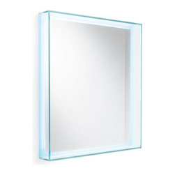 "WS Bath Collections - Speci 5682 Framed Mirror with LED Lighting 27.6"" x 31.5"" - Speci 5682 Framed Mirror with LED Lighting"