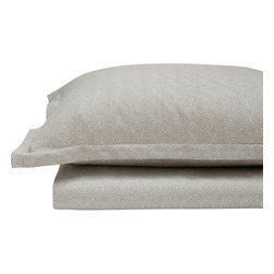 Area Inc. - Dia Gray Standard Pillow Cases, Set of 2 - Area Inc. - Achieve a simple, polished look in your bedroom using the Dia Gray Standard Pillow Cases. Made from 100% cotton sateen jacquard, these cases feature geometric diamond patterns. Pair them with transitional design elements for a clean, cohesive feel.