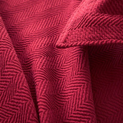 Pine Cone Hill - herringbone matelasse coverlet (claret) - Grown-up herringbone gets a playful update with a wide weave and an array of vibrant colors on our matelasse coverlet.��This item comes in��claret.��This item size is��various sizes.