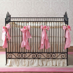 Casablanca Premiere Heirloom Iron Baby Crib:  Slate - Casablanca Premiere Crib in slate drips of old world elegance. Made of all hand bent wrought iron this gorgeous heirloom crib is simplicity and grandeur made real. The quality is exceptional, and the powder coated finish with a hand distressed top coat ensures lifelong wear. The Collection allows three varying height positions for the mattress.