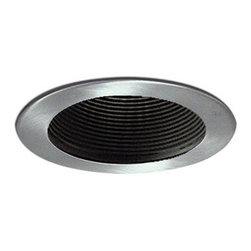 "Nora Lighting - Nora NL-411 4"" Black Adjustable Stepped Baffle with Ring, Nl-411n - 4"" Black Adjustable Stepped Baffle with Ring"