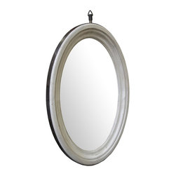 NOIR - NOIR Furniture - Oval Mirror in Vintage Grey - GMIR135VGR - Features: