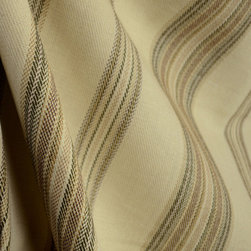 Sahara Khaki Cream Southwest Stripe Drapery Fabric By The Yard - Whether you're looking for something with at southwest flair or to add to a lodge retreat, Sahara Khakis woven stripes in brown, green and cream would be a great addition.