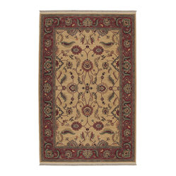 Karastan - Karastan Ashara 549-15005 Agra Ivory Rug - The gorgeous pattern of lilting fronds and dancing flora in this perfectly classic rug will fill your room with botanical beauty. This traditional wool rug is a stunning covering for your floor.