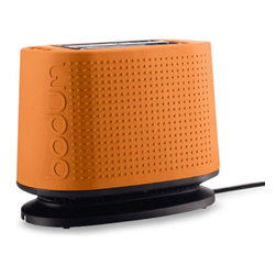 Bodum® Bistro 2-Slice Toaster, Orange - Oh my, this fancy toaster would liven up a kitchen counter! I love it!