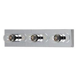 Maxim Lighting - Maxim Lighting 4453Pc Essentials 3-Light Bath Vanity - Maxim Lighting 4453PC Essentials 3-Light Bath Vanity