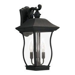 """Designers Fountain - Designers Fountain 2722-BK 3 Light 9"""" Cast Aluminum Cast Wall Lantern from the C - Features:"""