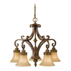 Murray Feiss - Walnut Drawing Room 5 Light 1 Tier Chandelier - Lamping Technologies: