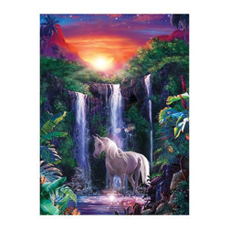 Masterpieces - Masterpieces Glitter Crystal Falls Puzzle Multicolor - 31236 - Shop for Puzzles from Hayneedle.com! About Masterpieces Puzzles & GamesFor the past 17+ years Masterpieces has delighted kids and parents. From art kits to puzzles of all levels Masterpieces ensures playtime activities that develop cognition as much as they foster fun. All Masterpiece items are tested for safety and this company is definitely eco-minded: All of their puzzles are manufactured using board with 100% recycled post-consumer materials their puzzle sheets wraps and catalogs are printed with soy-based inks and even included storage bags are biodegradable. Quality mindful products are what you can expect from Masterpieces.