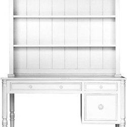Cottage Style Furniture Collection Isabella Desk with Optional Hutch - When your child needs a writing desk, consider a desk with a hutch. Combining storage with a work surface, this piece will hold up for years of happy usage. Yes even homework is awesome from here.