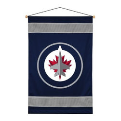 Sports Coverage - NHL Winnipeg Jets Sideline Wallhanging - NHL Winnipeg Jets Sideline Wallhanging, a great gift for the ultimate fan or a great way to deck out the bedroom with your favorite team. This Wallhanging is screen-printed with bold logo and team colors will carry your team spirit into any room. Each NHL Wall Hanging banner comes with wooden dowel at top and attached hanging cord. 100% Polyester.