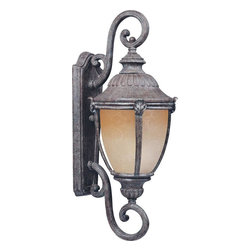 Maxim - Maxim Morrow Bay EE One Light Earth Tone Latte Glass Wall Lantern - This One Light Wall Lantern is part of the Morrow Bay Ee Collection and has an Earth Tone Finish and Latte Glass. It is Wet Rated, Outdoor Capable, and Energy Star Compliant.