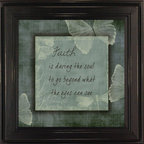 MyBarnwoodFrames - Faith is Daring Beyond What The Eyes Can See Inspirational Quote - Great  athletes  and  coaches  know  that  inspirational  quotes  do  wonders  for  performance.  That's  why  inspirational  wall  quotes  are  a  great  way  to  keep  the  mind  thinking  positive  and  uplifting  thoughts.  They  are  always  on  display  for  you  to  see,  so  you  get  a  constant  flow  of  goodness  to  your  mind.  This  framed  quote  will  dare  you  to  go  beyond  what  your  eyes  can  see  and  encourage  you  to  reach  for  your  dreams.  Hand  distressed  edges.          View  more  Inspirational  Quotes  here.