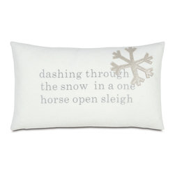 "One Horse Sleigh Pillow - ""Sleigh Ride"" is by far my favorite holiday tune. My dream is to actually go on one on a snowy day with a team of horses pulling me through the woods as I sip cocoa under the blankets. Until then, this pillow will keep my dreams alive."