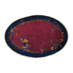1800-Get-A-Rug - Antique Chinese Art Deco Full Pile Oval Handmade Oriental Rug Sh20643 - Oriental handmade rugs are famously known to gain more value over time. An authentic Antique hand knotted rug is not only an instant centerpiece in any setting, but is a wonderful investment which only increases over the years. This collection features rare and valuable authentic hand-knotted area rugs from all over the world at exclusive discount prices.