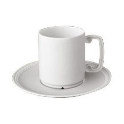 L'Objet - L'Objet Soie Tressee White Espresso Cup and Saucer - The braid made modern, Soie Tressee offers a distinct, contemporary take on an ancient shape. Limoges porcelain available in White, hand-gilded 24K Gold, or Platinum. Limoges Porcelain White Dimensions: 4oz. L'Objet is best known for using ancient design techniques to create timeless, yet decidedly modern serveware, dishes, home decor and gifts.